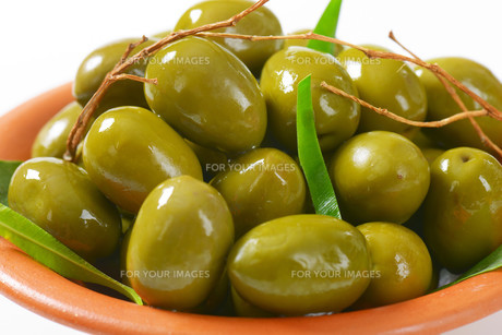 Fresh Green Olivesの素材 [FYI00758624]