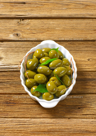 Fresh Green Olivesの素材 [FYI00758626]