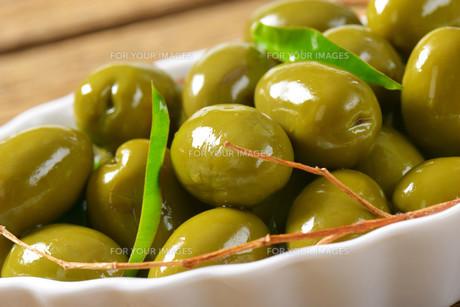 Fresh Green Olivesの素材 [FYI00758642]