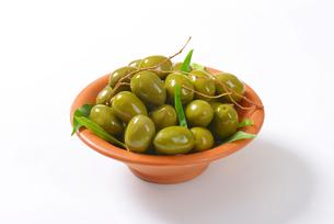 Fresh Green Olivesの写真素材 [FYI00758646]