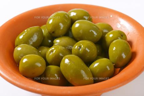 Fresh Green Olivesの写真素材 [FYI00758669]