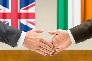 representatives great britain and ireland join handsの写真素材 [FYI00758887]