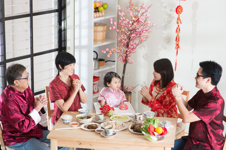 Chinese New Year Reunion Dinnerの写真素材 [FYI00758987]