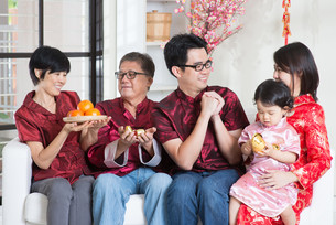 Chinese New Year at homeの写真素材 [FYI00758997]