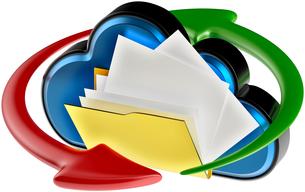 cloud computing and circulation digital documentsの写真素材 [FYI00759180]