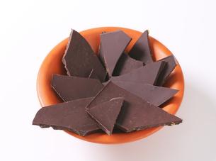 Pieces of dark chocolateの写真素材 [FYI00759257]