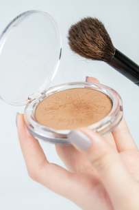 Make up bronzer and contouring brushの写真素材 [FYI00759355]