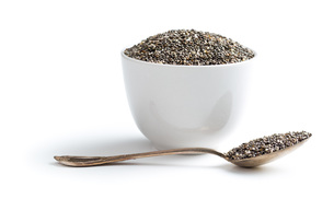 chia seeds in spoonの写真素材 [FYI00759586]