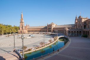 plaza de espana in seville,spainの写真素材 [FYI00759602]