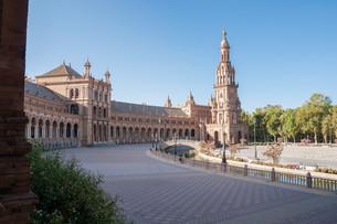 plaza de espana in seville,spainの写真素材 [FYI00759613]