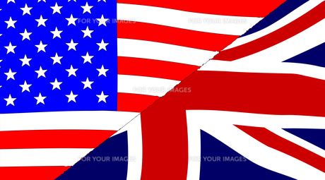 USA and UK Flagsの写真素材 [FYI00759917]