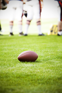Close up on an american football ballの写真素材 [FYI00760507]