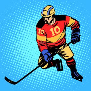 Hockey player number 10の写真素材 [FYI00760716]