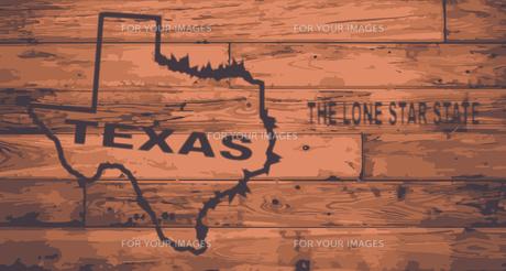 Texas Map Brand.の写真素材 [FYI00760736]