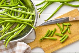 chopped green beansの写真素材 [FYI00760757]