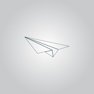 Paper Plane signの写真素材 [FYI00761142]