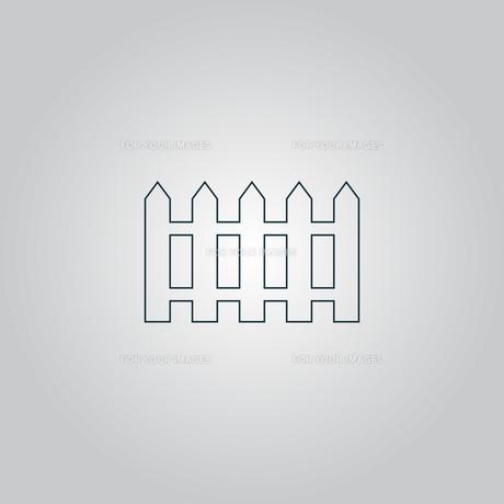 Fence icon - Vectorの写真素材 [FYI00761143]
