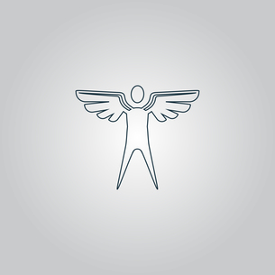 Winged man. Vectorの素材 [FYI00761144]