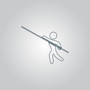 Pole vault athleteの写真素材 [FYI00761146]