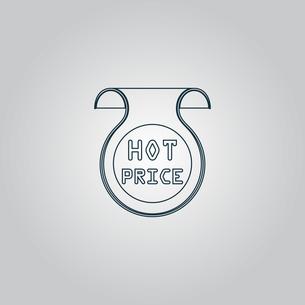 Hot price sticker, Badge, Labelの写真素材 [FYI00761159]