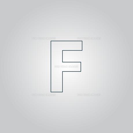 Letter F vector flat iconの写真素材 [FYI00761160]