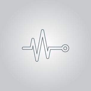 life line - Heart beat, cardiogram.の写真素材 [FYI00761162]