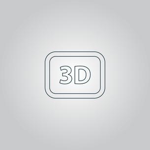 three-dimensional vector iconの写真素材 [FYI00761168]