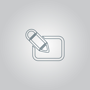 Registration icon, vector illustration.の素材 [FYI00761173]