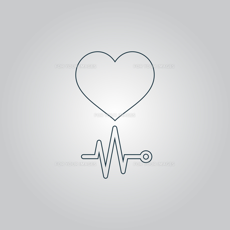 Heart with its cardiogramの写真素材 [FYI00761202]