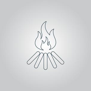 bonfire vector iconの写真素材 [FYI00761208]