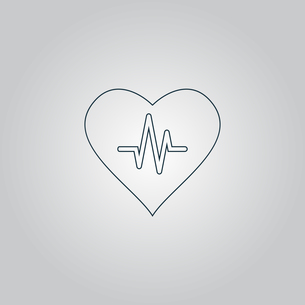 Heart with cardiogramの写真素材 [FYI00761213]