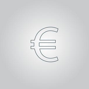 Euro flat icon. Vector illustration.の写真素材 [FYI00761219]