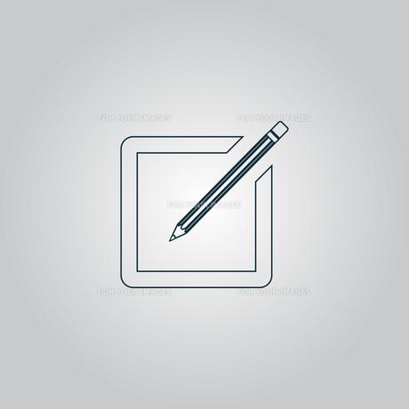 Simple registration iconの写真素材 [FYI00761221]