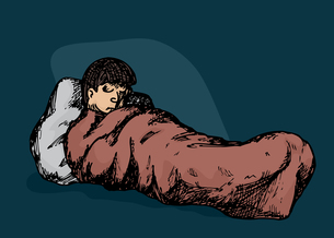 Person in Sleeping Bagの素材 [FYI00761294]