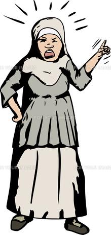 Woman in Hijab Shoutingの写真素材 [FYI00761315]