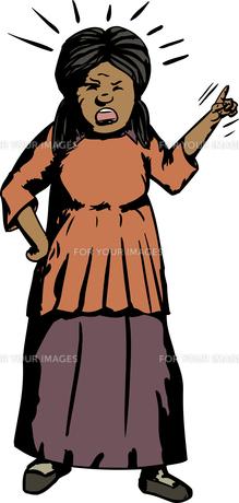 Angry Hispanic Female Pointingの写真素材 [FYI00761317]