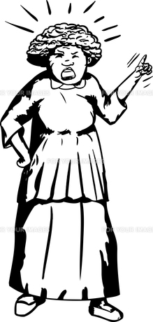 Outline of Mad Woman Pointingの写真素材 [FYI00761321]