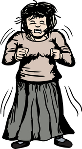 Trembling Furious Womanの写真素材 [FYI00761329]