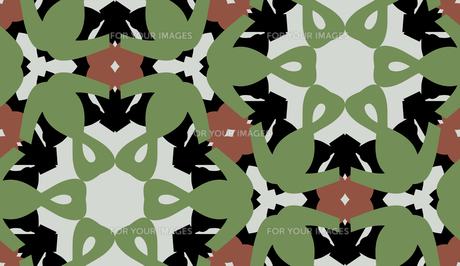 Green and Brown Symmetrical Patternの素材 [FYI00761353]