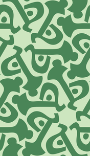 Green Key Shapes in Wallpaperの素材 [FYI00761357]