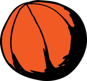Isolated Basketball Doodleの素材 [FYI00761372]