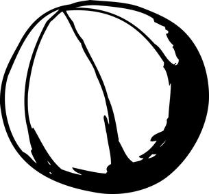Outlined Cartoon Basketballの素材 [FYI00761382]