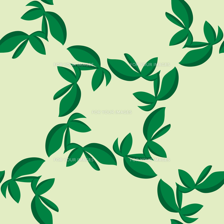 Tiled Green Leaves Patternの素材 [FYI00761408]