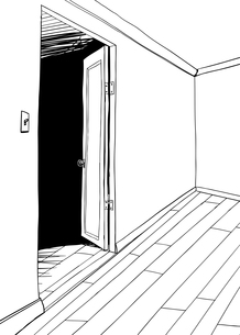 Outlined Illustration of Empty Roomの素材 [FYI00761415]