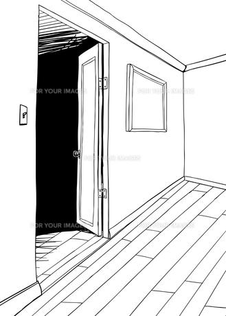 Room with Dark Doorway Outlineの写真素材 [FYI00761421]