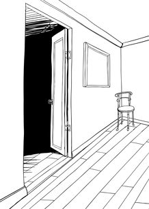 Outline of Chair in Roomの素材 [FYI00761430]