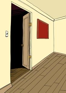 Room with Dark Doorwayの写真素材 [FYI00761433]