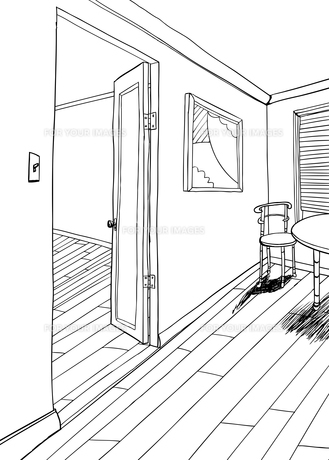 Artwork in Room Illustration with Tableの素材 [FYI00761445]