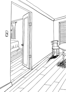 Outline of Dining and Bed Roomsの素材 [FYI00761446]