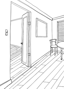 Outline of Room with Frame and Furnitureの素材 [FYI00761447]